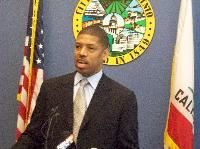 Mayor Johnson at his Tuesday press conference